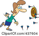 437604-royalty-free-rf-clip-art-illustration-of-a-cartoon-woman-missing-the-target-while-throwing-darts