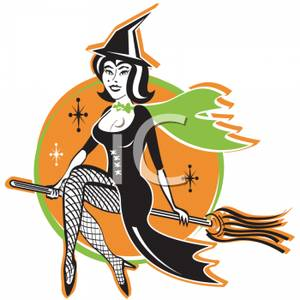 cartoon_sexy_witch_riding_sideways_on_her_broom_with_her_legs_crossed_royalty_free_clipart_picture_101020-004710-647053