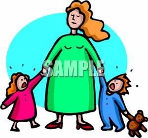 two_children_crying_while_holding_mothers_hand_royalty_free_clipart_picture_090710-033183-148053