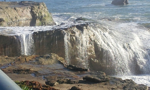 BeachWaterfall!