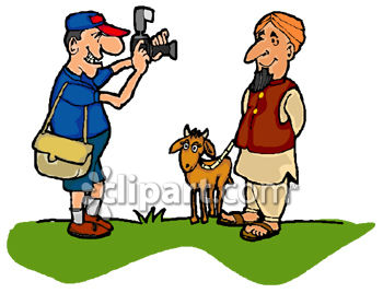 0060-0808-2816-0351_tourist_taking_a_picture_of_an_indian_goat_herder_clip_art_clipart_image