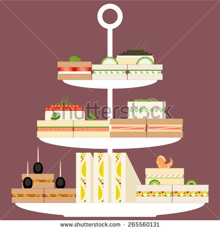 stock-vector-assorted-finger-food-and-sandwiches-on-three-tier-stand-265560131