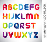 stock-vector-creative-three-dimensional-alphabet-set-100451908