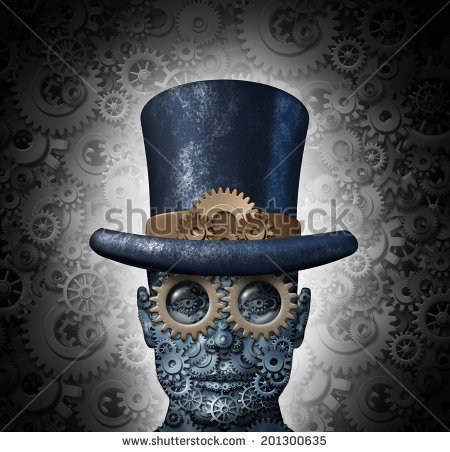 stock-photo-steampunk-science-fiction-concept-as-a-fantasy-mechanical-human-head-made-of-gears-and-cogs-wearing-201300635