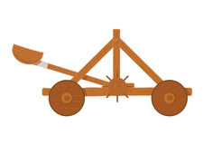 old-medieval-wooden-catapult-shooting-stones-vector-illustration-white-background-72089561