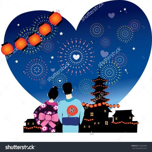 stock-vector-japanese-summer-festival-romance-vector-graphic-102024409