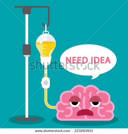 stock-vector-sick-brain-use-light-bulb-saline-bag-vector-illustration-flat-and-minimal-design-need-idea-223263931