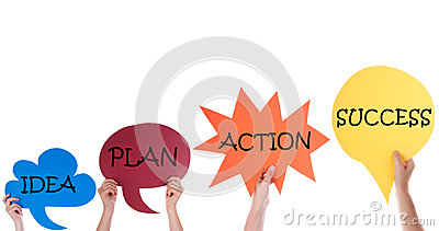 four-speech-balloons-idea-plan-action-success-many-hands-holding-colorful-bubbles-english-text-isolated-white-50599507