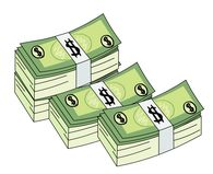 banknotes stack of money clipart