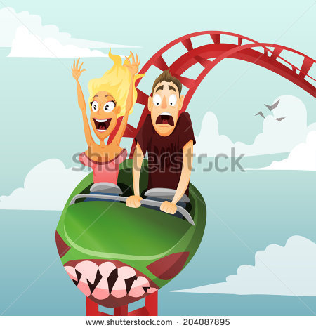 stock-vector-couple-have-date-in-roller-coaster-girl-and-boy-204087895