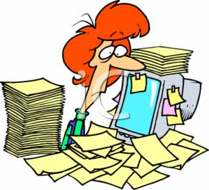 0511-0703-0215-2441_overworked_businesswoman_with_stacks_of_paperwork_and_a_computer_clipart_image