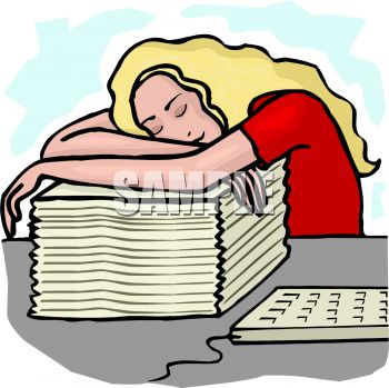 0511-1107-2914-1736_overworked_employee_falling_asleep_in_the_office_clipart_image