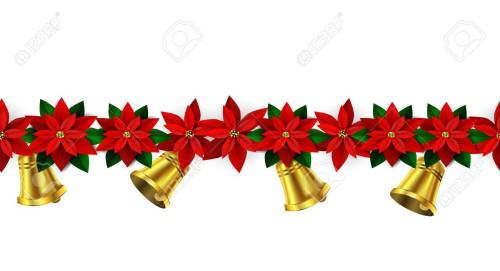 Seamless Christmas borders