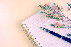 writing-pen-notebook-flower-sweet-color-design-background-67196175