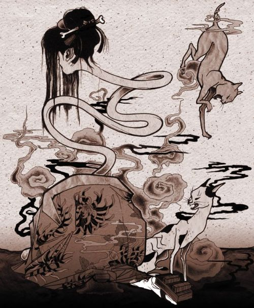 2660fcfaa0908ebdbc6124b31f123951-japanese-mythology-japanese-folklore