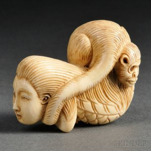 ivory-netsuke-of-an-yokai-monster