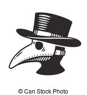 plague-doctor-illustration-plague-doctor-head-profile-with-bird-mask-and-hat-vintage-engraving-eps-vectors_csp51299536