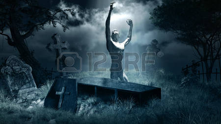 61901747-night-scene-with-zombie-graveyard-tombstones-and-coffin