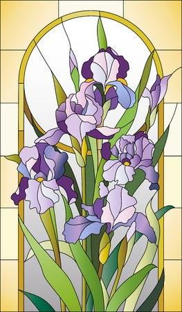 49172188-stock-vector-stained-glass-pattern-for-a-window-with-irises